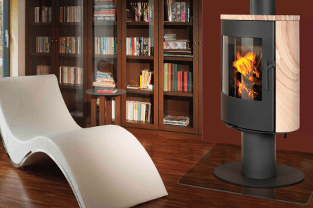 Closed system combustion fireplaces