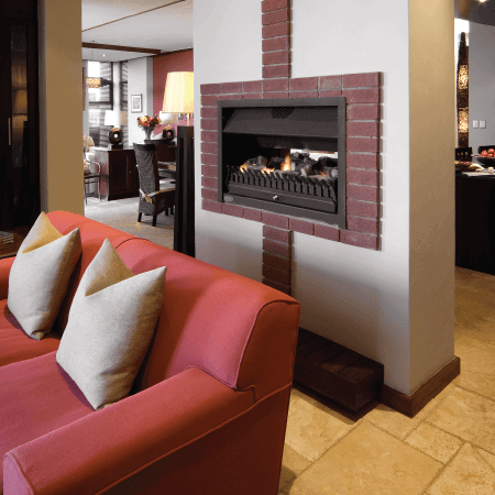 Gas vented fireplaces